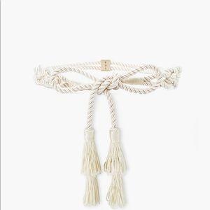 NWT White House Black Market Rope Tie Belt M/L